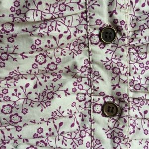 Cotton Express Tops - Floral button up tunic